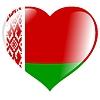 Herz mit Flagge von Belarus