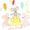 süße Mäuse am Geburtstag