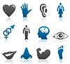 Icons von Teilen des Körpers