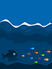 ID 3259651 | Jagd auf Fische | Stock Vektorgrafik | CLIPARTO