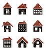 Icons von Häusern