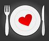 Herz auf dem Teller