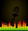 Векторный клипарт: Дискотечный микрофон