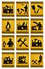 ID 3262337 | Arbeiter-Icons | Stock Vektorgrafik | CLIPARTO