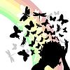 Schmetterlinge der Kopf