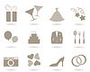 Hochzeits-Icons