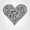 Herz aus Häusern