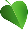 Grünes Blatt wie Herz | Stock Vektrografik