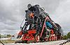 Sowjetischen Dampflokomotive mit dem roten Stern | Stock Photo