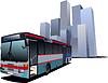 Pokrycie dla broszury z miasta i autobusowych obrazów. | Stock Vector Graphics