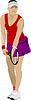 Kobieta tenisista | Stock Vector Graphics
