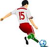 Piłkarz | Stock Illustration