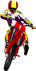 Motocykl na drodze. Biker | Stock Vector Graphics