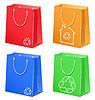Taschen mit Öko-Symbol