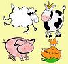 Tiere auf dem Bauernhof | Stock Vektrografik