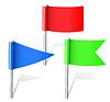 farbige Schreibwaren-Flaggen