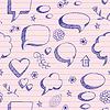 Skizze von Sprechblasen