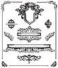 kalligraphische Design-Elemente Set