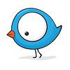 Cute Cartoon-Vogel | Stock Vektrografik