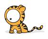 großäugiger Tiger