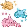 Koty śpiące | Stock Vector Graphics