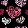 Miłość bez szwu tła | Stock Vector Graphics
