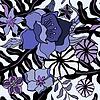 Tropische Blumen Hintergrund. Nahtlose Muster | Stock Vektrografik