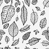 Nahtlose Hintergrund mit Blättern | Stock Vektrografik
