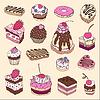 ID 3292397 | Set von niedlichen Kuchen | Stock Vektorgrafik | CLIPARTO
