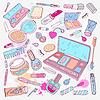 Produkte für Make-up und Schönheit