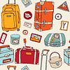 Reisen nahtlose Hintergrund. Koffer und Taschen
