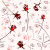 Schöne nahtlose Rosenmuster | Stock Vektrografik
