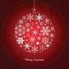 Weihnachtskugel aus Schneeflocken | Stock Vektrografik