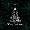 Weihnachtsbaum von Schneeflocken. Hintergrund