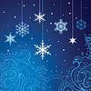 Hintergrund mit Schneeflocken | Stock Vektrografik