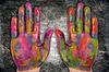 Malowane rąk ludzkich | Stock Foto