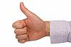 Pozytywny znak ręka wyrażając | Stock Foto