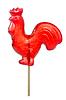 Rote Hahn auf Zucker-Stick | Stock Foto
