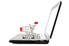 Laptop with shopping cart | Stock Foto
