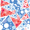 Dekorativer nahtloser Hintergrund mit Pizza | Stock Vektrografik