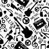 Бесшовный музыкальный фон | Векторный клипарт