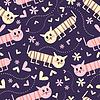 Nahtloses Muster mit Katzen
