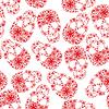 Red Schädel in Blumen auf weißem Hintergrund