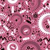 Dekorative Elemente bunt auf rosa Hintergrund
