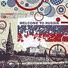 ID 3309126 | Grunge Postkarte mit Russland Flagge und Kreml | Stock Vektorgrafik | CLIPARTO
