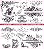 Kalligraphische Design-Elemente und Dekorationen | Stock Vektrografik