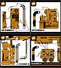 Set von vier bunten Roboter