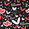 Valentinstag - nahtloses Muster