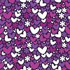 Herzen und Blumen - nahtloses Muster