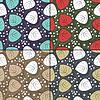 Set von vier Floral nahtlose Muster
